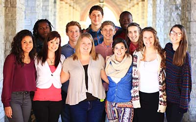 Bryn Athyn College students in a large group