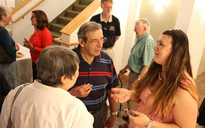 Bryn Athyn College students and alumni in conversation